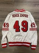 Throwback White Niner Empire Jersey Jacket